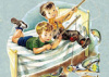Boys fishing off bed (none available please enquire)
